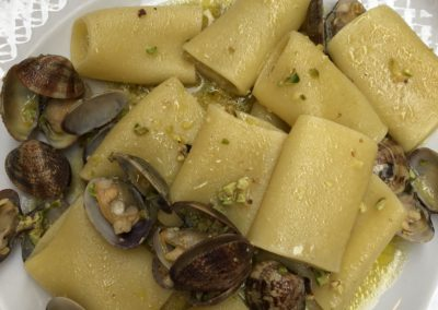 Fresh pasta with clams at Ristorante Borgo in Bari, Puglia, Italy
